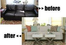 Reupholster, Recover, Slip Covers / by Lauriann Rosenvall