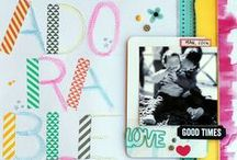 SCRAP-LIFT / Scrapbook Pages I love and want to try.
