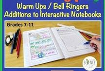 Biology Interactive Notebooks, Warm Ups and Bell Ringers / This is a great way to teach, review, and reinforce important concepts in Biology.  Plus, it is a fantastic classroom management tool.  Win-Win! / by Science Stuff