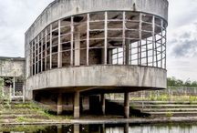 Modernist ruins / Modern architecture reclaimed by nature