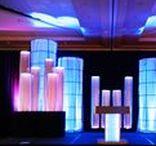 Wedding DJ Setups / Elegant, subtle yet attractive mobile DJ setups at weddings and other private events that have transformed basic venues into interactive fantasies.