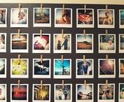 Photoboards / Cool ideas to get the photos off your phone or laptop and where you and everyone else can see them.