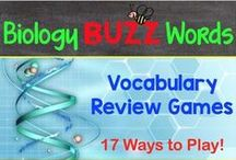 Biology Buzz Words / This board contains all of my Biology Buzz Word Products.  These biology vocabulary games will help your students master the terms and definitions! / by Amy Brown Science