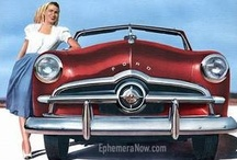 """Remember the 1949 Fords? / Many of us """"1949"""" baby-boomers remember riding in our parent's cool old 1940's cars.  It's so fun to sort of have them back! / by DeWitt Harkness"""