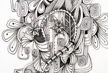 Doodle, Art & Zentangles and inspiration / doodle, art, zentangles