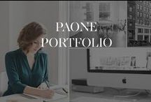 #MadebyPaone / Paone Creative Website & Brand Design Portfolio. Paone Creative is a digital design studio that specializes in identity and website development for inspired brands! #PaoneStudiolife #studiolife #PaoneAtelier  Does Your Brand Inspire? www.paonecreative.com