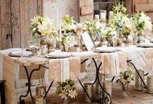 Tablescape / Beautiful tablescape decoration.