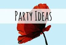 Party Ideas / Great ideas for gatherings, anniversary parties, milestone birthdays, and birthday parties for kids and adults.