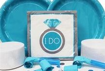 Bridal Blue Bachelorette Party / A collection of items for a blue or turquoise theme Bridal Shower, Lingerie Shower or Bachelorette Party!