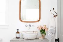 Bathrooms / // inspiration for what's to ever come of our little guest / kiddo bathroom //