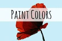 Paint colors / For the kitchen, office, dining room, bedroom, and baths!