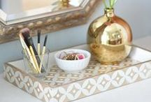 White and Gold / White and Gold inspired home decor