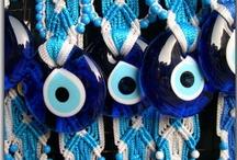 "Evil Eye amulets / Known as ""Mati"" in Greek, ""Nazar"" in Turkish."