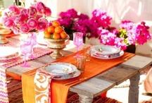 Vibrant! Oranges, pinks, fuschias, yellows