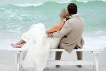 """Beach Bliss / Crisp, clean colors and decor. The salty beach water hitting the shore. Cool breeze flowing through your hair. Beach weddings are awesome. Themes such as """"You are my anchor"""" and """"Tying the Knot"""" are perfect to carry out a beach themed wedding."""