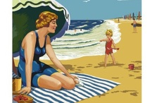Beach Posters / Travel posters for beach destinations. / by Bobbie