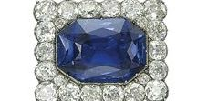 Gemstone: Sapphire / Jewelry pieces in which sapphire is the dominant stone.