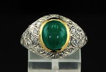 Gemstone: Emerald / Jewelry pieces in which emerald is the dominant stone.