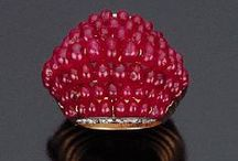 Gemstone: Ruby / Jewelry pieces in which ruby is the dominant stone.