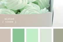 Mint to be / Mint or pistachio can be paired with a variety of soft toned hues such as peach, yellow, ivory or white to create a sweet spring color palette for your big day.