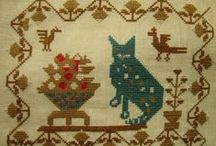 Cat Art: Needlework, Textile / by Bobbie