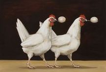 Chicken & Rooster Art / Artistic depictions of chickens and roosters. / by Bobbie
