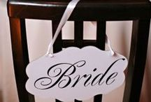 Wedding Chair Signs & Décor / Wedding chair signs and decor ideas for the Washington DC area / by United With Love