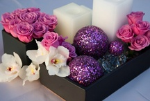 Alternative Centerpieces / For those who may have flower allergies or just want something different and more cost efficient.