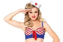 Sexy Sailor Costumes / Have a Halloween that's both naughty and nautical. These sweet and sexy sailor costumes are sure to get the boat rocking! #LoversLane / by Lover's Lane
