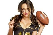 "Sexy Sports Girls Costumes / Every man loves a woman who can hang with the guys. Show a little of your tomboy self this Halloween wearing one of these sports girls costumes and get ready to ""play ball""! #LoversLane / by Lover's Lane"