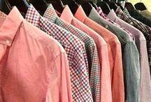 Gent Sartoriale -- J. Hilburn (Shirts Galore) / A board filled with images of J. Hilburn custom shirts.