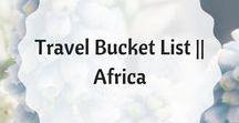 Travel Bucket List    Africa