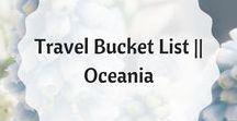 Travel Bucket List    Oceania