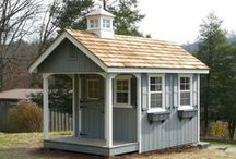 A Dream Playhouse / A child's delight! These beautiful playhouses will thrill your child. They also have a full size access door in the back, so adults can enter too. And when the children are grown, you'll still be using it as a charming storage shed. Designed and built by Amish workers in Pennsylvania, then assembled on site by our own crews. See a sampling of our backyard structures at our display lots in Rocklin and Auburn, California. Installation available in the San Francisco Bay Area and SoCal as well.