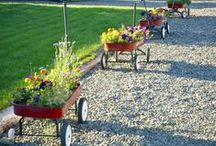 Clever Reuses / Repurposing and reusing in gardens and landscaping