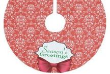 Christmas Tree Skirts / Monogrammed, decorative and personalized Christmas tree skirts,
