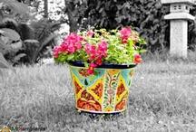 Bunte Blumentöpfe / Flower Pots MEXICO / handbemalte, bunte Blumentöpfe aus Mexiko handpainted mexican Flower pots  www.mexambiente-shop.com