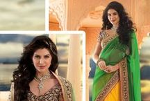 Bollywood Sarees / Buy Exclusive Celebrity and Bollywood Sarees online at best price and express shipping from YourDesignerWear. We have tempting collection of Designer Bollywood Sarees with unique colors and patterns. / by YourDesignerWear.com