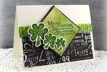 Lucky You / Cards made using the Lucky You stamp set.  http://shopverve.com/vs-0164.html / by Verve Stamps