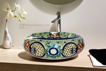 Mexican sinks in Germany / Mexican sinks in Europe by Mexambiente - we are located in Germany,  We offer beautiful mexican handpainted Sinks, tiles and more ceramic from Mexico www.mexambiente-shop.com