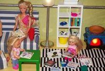 Barbie doll - house, dress, furniture DIY