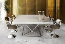 Square Dining Table Ideas / Best Square Dining Table Ideas | Projects and pieces by Philippe Starck, Marcel Wanders, Jean-Louis Deniot, Martin Brudnizki, Kelly Wearstler, David Collins, Jacques Grange, Peter Marino, Alberto Pinto, Christian Liaigre and other great names and brands.