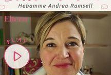 """Sprechstunde: Hebamme / Andrea Ramsell ist Hebamme und Mutter von zwei Kindern. Ihr Motto: """"Der Kopf ist rund, damit das Denken seine Richtung ändern kann"""". Bei ELTERN online beantwortet sie nun Fragen, die Schwangeren und werdenden Vätern besonders wichtig sind."""