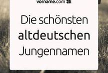 Alte deutsche Vornamen