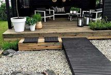 New garden mood board / Ideoita ja fiiliskuvia uuden pihan suunnitteluun.