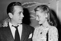 """Bogart and Bacall / Bogart met Bacall while filming To Have and Have Not (1944), He was 44, she was 19. They married in 1945. They had a son  Steven (1949) and a daughter Leslie (1952). They were married until Bogie's death in 1957. """"If you want anything, just whistle."""" / by Kristin Leedy Kessler"""