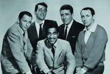 "The Rat Pack / The Rat Pack was a group of actors originally centered on Humphrey Bogart. In the mid-1960s it was the name used by the press and the general public to refer to a later variation of the group, after Bogart's death, that called itself ""the summit"" or ""the clan,"" featuring Frank Sinatra, Dean Martin, Sammy Davis, Jr., Peter Lawford, and Joey Bishop. Bogart is not included too much in this board, as he has his own board. / by Kristin Leedy Kessler"