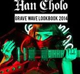 """Grave Wave - LookBook 2014 / Fashion Lookbook: Inspired by Hip-Hop, Punk, 80's Revival and visual esthetics of the dark and ambient, Han Cholo's """"Grave Wave"""" Collection is a multitude of all things arcane."""