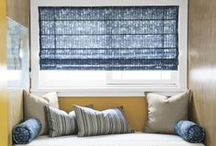Blue Window Treatments / by Smith & Noble