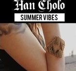 Summer Vibes / Summertime in the City - time to throw on some shades, sunscreen and that Han Cholo. Keep it real with your summer jewelry. Get jewelry inspired.
